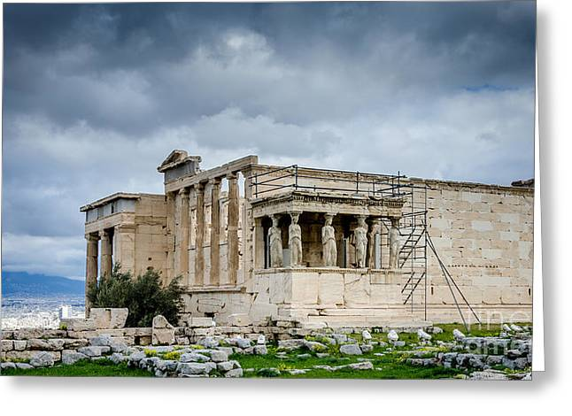 Greek Sculpture Greeting Cards - Erechtheion - Porch of the Maidens Greeting Card by Debra Martz