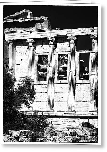 Ancient Greek Ruins Greeting Cards - Erechtheum Columns Greeting Card by John Rizzuto