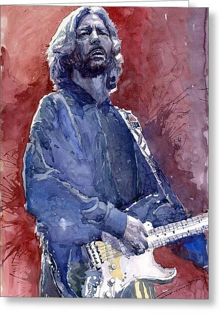 Eric Greeting Cards - Eric Clapton 04 Greeting Card by Yuriy  Shevchuk