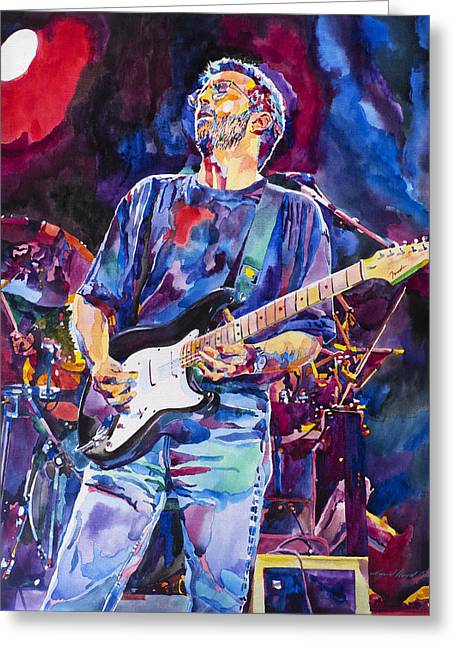 Eric Greeting Cards - ERIC CLAPTON and BLACKIE Greeting Card by David Lloyd Glover