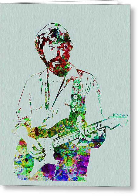 Eric Clapton Portrait Greeting Cards - Eric Clapton Greeting Card by Naxart Studio