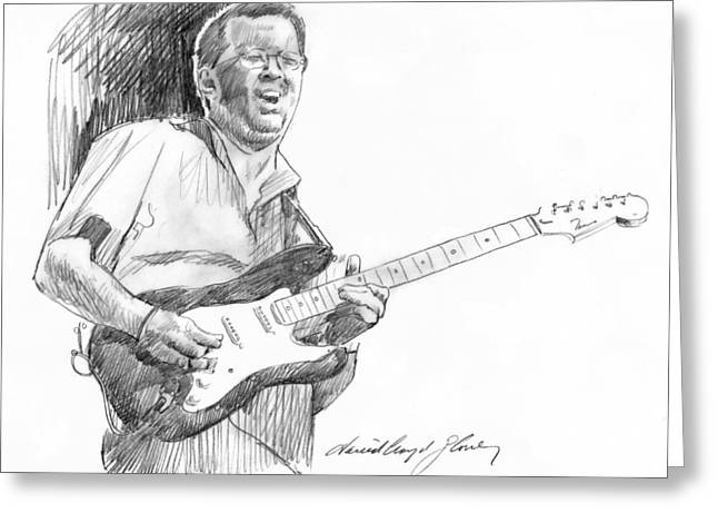 Lengend Greeting Cards - Eric Clapton Jam Greeting Card by David Lloyd Glover