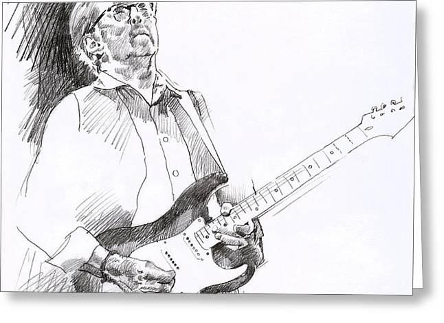 Eric Clapton Joy Greeting Card by David Lloyd Glover