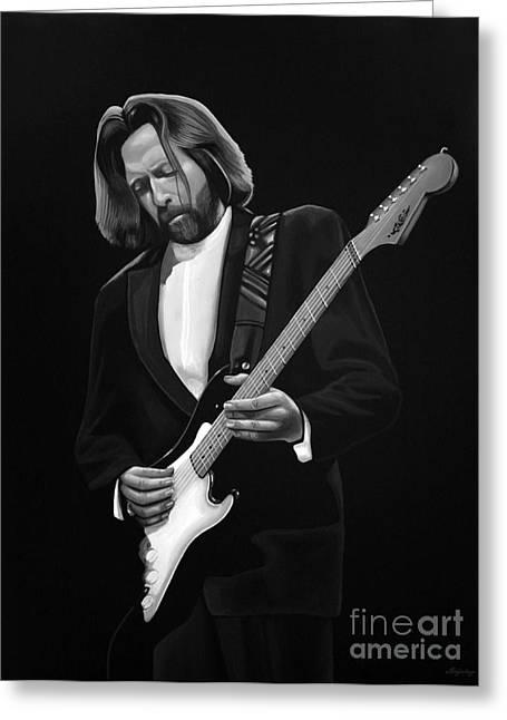 Bob Marley Artwork Greeting Cards - Eric Clapton Greeting Card by Meijering Manupix