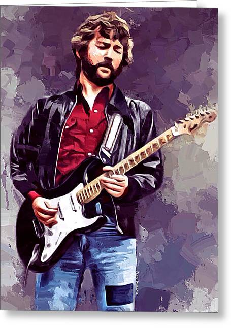 Eric Clapton Painting Greeting Card by Scott Wallace