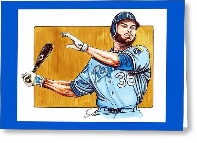 Eric Hosmer Of The Kansas City Royals Greeting Card by Dave Olsen