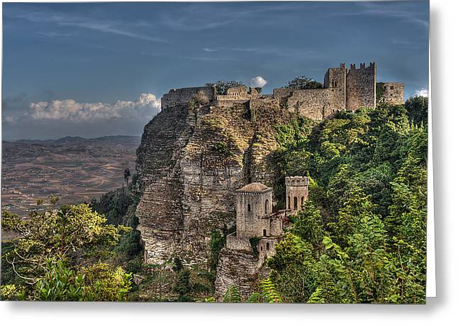 Erice Greeting Cards - Erice Sicily Castle Greeting Card by Terry Pridemore
