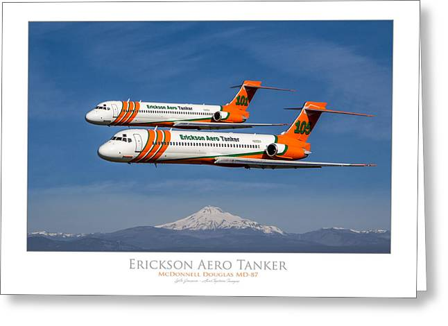 Md Greeting Cards - Erickson Aero Tanker Greeting Card by Lyle  Jansma