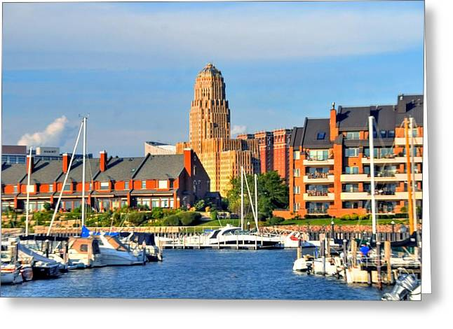Struckle Greeting Cards - Erie Basin Marina Greeting Card by Kathleen Struckle