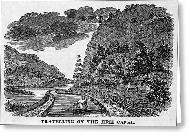 1835 Greeting Cards - Erie Canal, 1835 Greeting Card by Granger