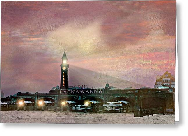 Ferry In New York Greeting Cards - Erie Lackawanna Transit Greeting Card by Diana Angstadt