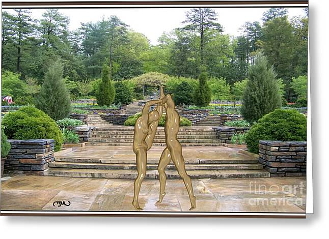 Statue Portrait Greeting Cards - erotic acrobatics 2EA Greeting Card by Pemaro