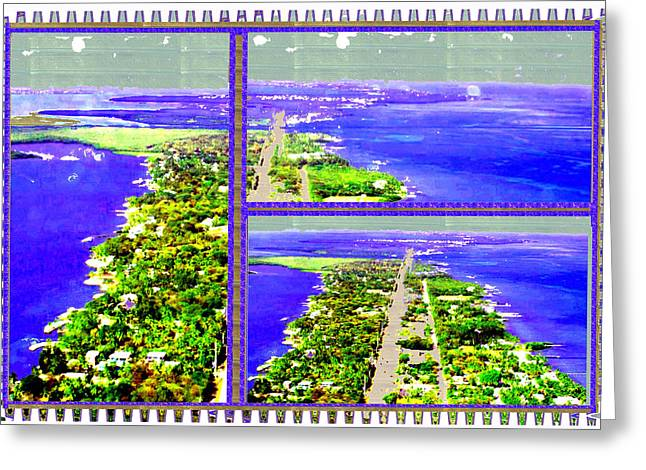 Customizable Greeting Cards - Erotic Green and Exotic Blues from Located 90 miles south of Miami on the island chain of Islamorada Greeting Card by Navin Joshi