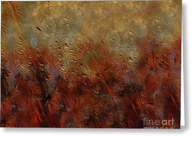 Improvisation Greeting Cards - Eruption Greeting Card by Ed Churchill