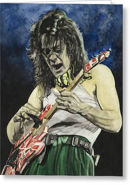 Rock And Roll Paintings Greeting Cards - Eruption  Greeting Card by Lance Gebhardt