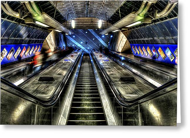 Under Ground Greeting Cards - Escalator 01 Greeting Card by Svetlana Sewell
