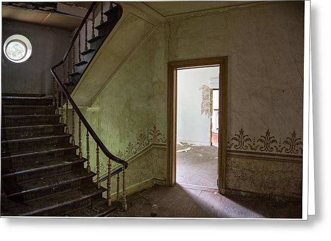 Deserted Castle Greeting Cards - Escape route - Urband exploration Greeting Card by Dirk Ercken