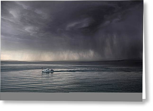 Raining Greeting Cards - Escaping Greeting Card by Matjaz Cater