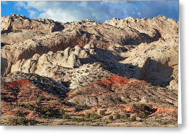 Monolith Greeting Cards - Escarpment of the Waterpocket Fold Greeting Card by Kathleen Bishop