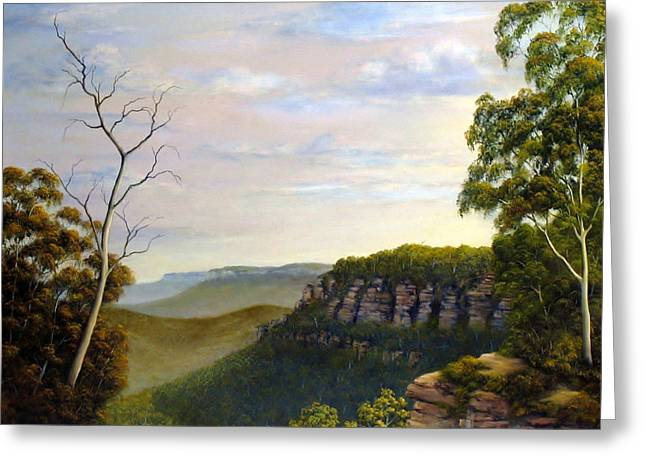 Landscapes Reliefs Greeting Cards - Escarpments Edge Greeting Card by John Cocoris