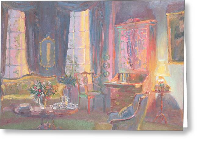 Interior Still Life Paintings Greeting Cards - Escritoire Greeting Card by William Ireland
