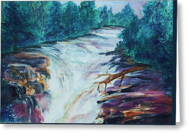 Esopus Creek Greeting Card by Ellen Levinson