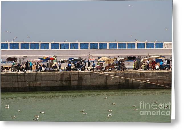 Panoramic Ocean Greeting Cards - Esplanade Fishing Markets Greeting Card by Gail Palethorpe