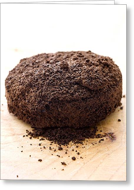 Espresso Greeting Cards - Espresso coffee grounds Greeting Card by Frank Tschakert
