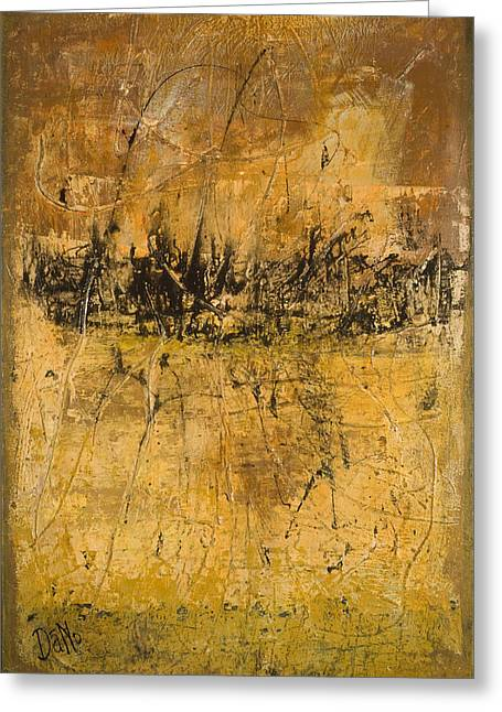 Beige Abstract Greeting Cards - Espresso Greeting Card by Duane Nowell