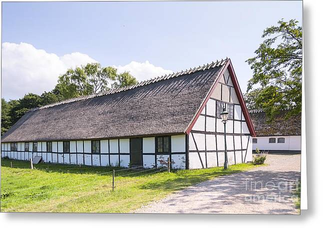 Kloster Greeting Cards - Esrum Kloster Cottage house in Denmark Greeting Card by Antony McAulay