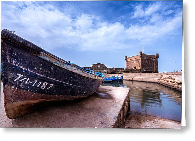 Fishing Boats Greeting Cards - Essaouira Greeting Card by Zouhair Lhaloui