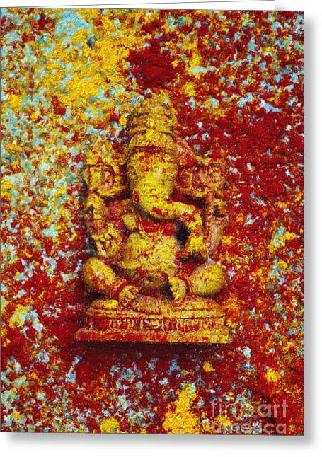 Essence Of Ganesha Greeting Card by Tim Gainey