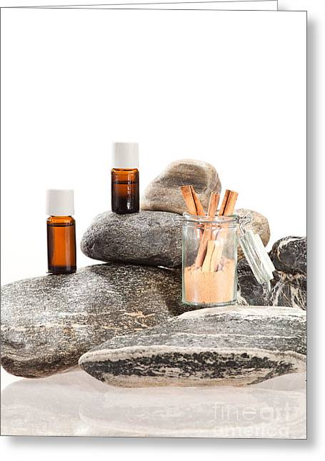 Spice Greeting Cards - Essential oil from cinnamon bark Greeting Card by Wolfgang Steiner