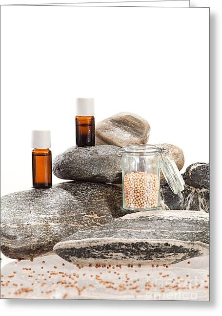 Essential Oil From Coriander Greeting Card by Wolfgang Steiner