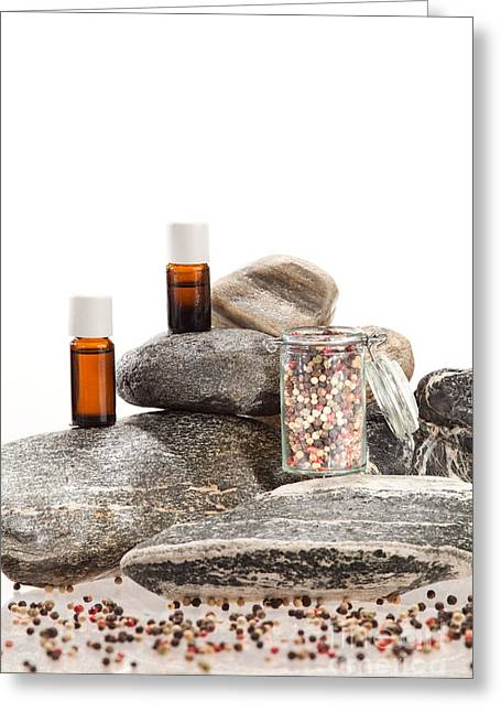 Spice Greeting Cards - Essential oil from pepper Greeting Card by Wolfgang Steiner