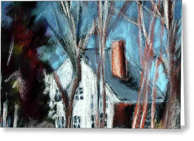 Essex Thru Trees Greeting Card by Donna Crosby