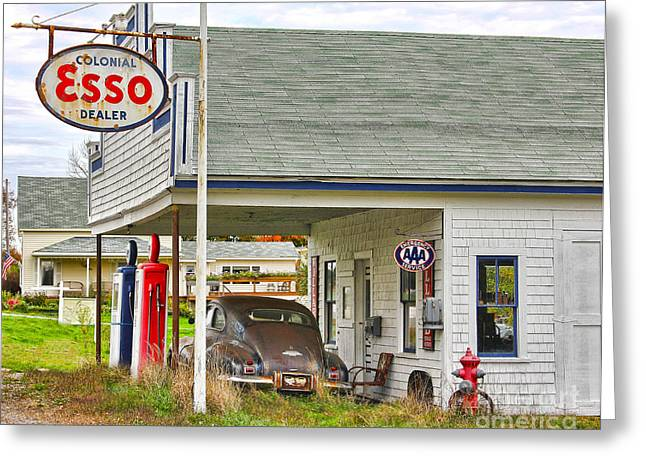 Esso Greeting Cards - Esso Gas Staion Greeting Card by Jack Schultz