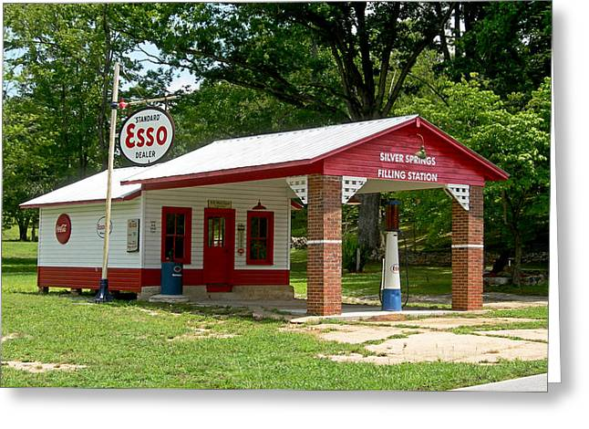 Esso Greeting Cards - Esso Station Greeting Card by Greg Joens