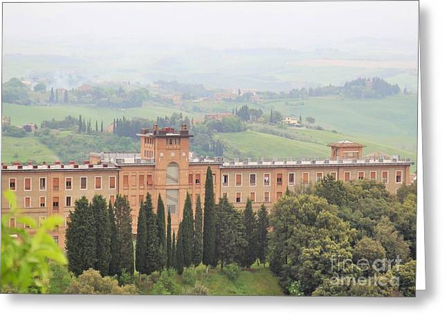 Sienna Italy Greeting Cards - Estate Greeting Card by Tracy Reese