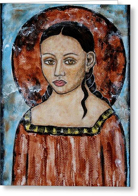Devotional Art Paintings Greeting Cards - Esther Greeting Card by Rain Ririn