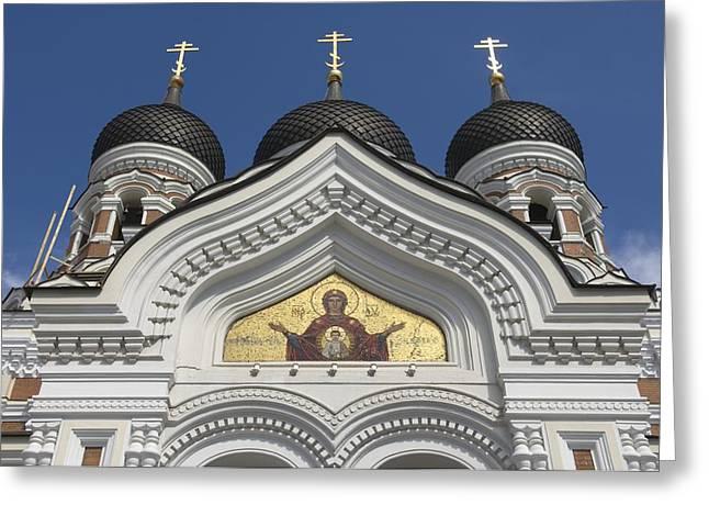 Estonia, Tallinn, St Alexander Nevski Greeting Card by Keenpress