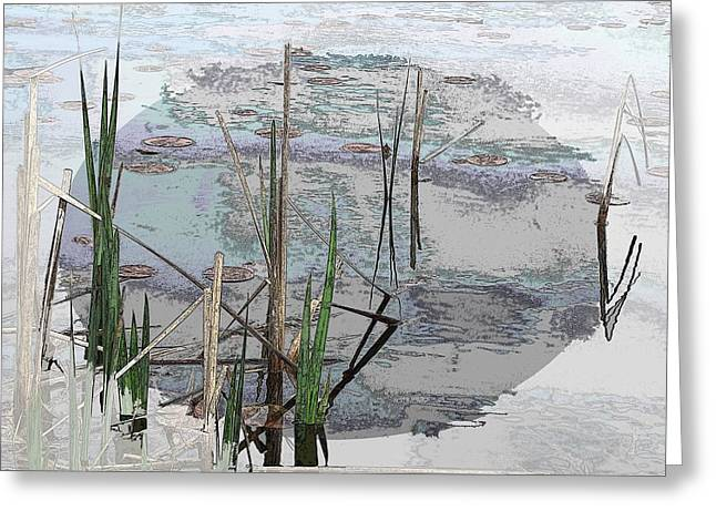 Jagged Border Greeting Cards - Estuary Greeting Card by Tim Allen