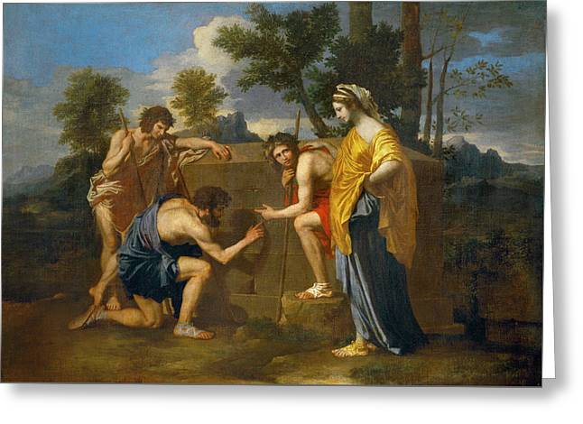 Et In Arcadia Ego Greeting Card by Nicolas Poussin