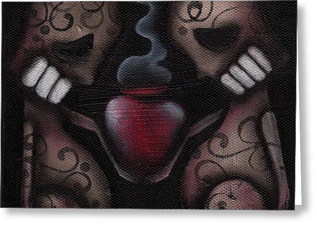 Sacred Paintings Greeting Cards - Et Noster Amor Greeting Card by  Abril Andrade Griffith