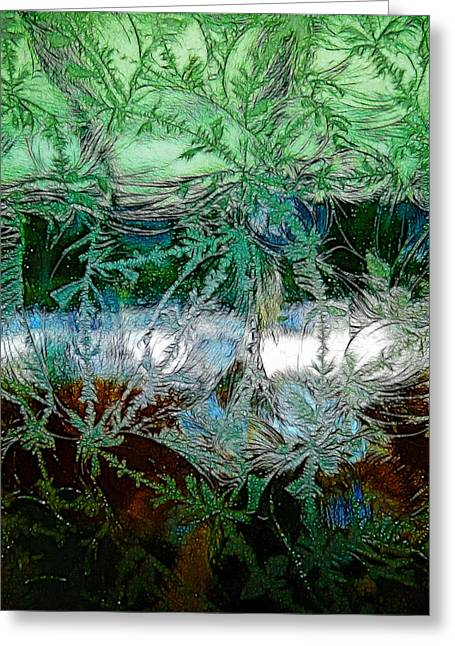 Etched Glass Greeting Card by Cindy Wright