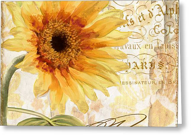 Ete Greeting Card by Mindy Sommers