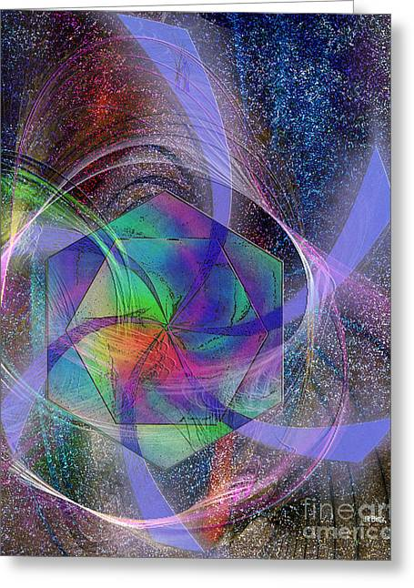 Eternal Reactions Greeting Card by John Robert Beck