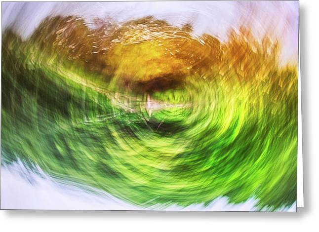Eternally Spinning Greeting Card by Scott Norris