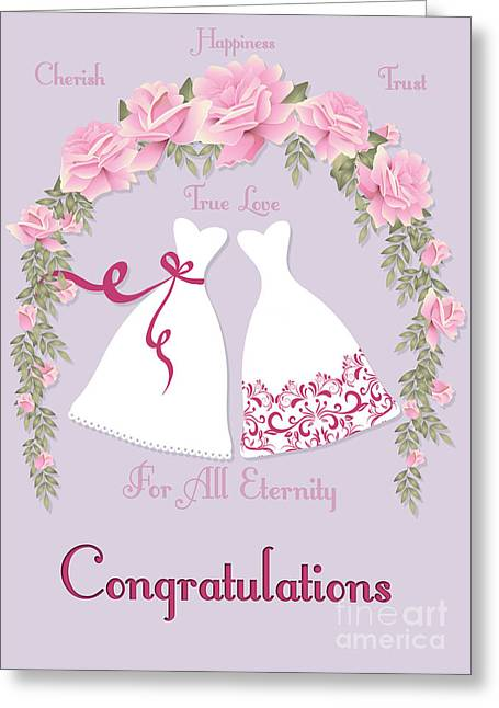 Special Occasion Greeting Cards - Eternity Gowns Greeting Card by JH Designs