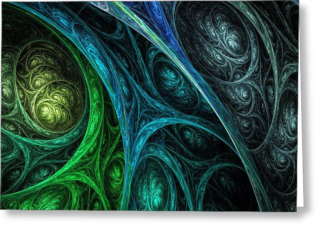 Fractal Orbs Greeting Cards - Eternity Greeting Card by Sharon and Renee Lozen